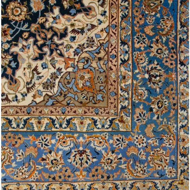 Whimsical Early 20th Century Isfahan Rug - 5′1″ × 7′7″ For Sale - Image 4 of 7