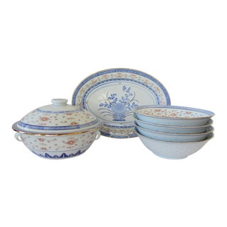 Chinese Porcelain Serveware, 6 Pieces For Sale