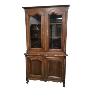French 20th Century Oak Bookcase For Sale