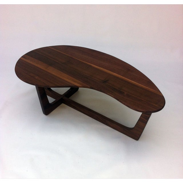 Pearsall Style Walnut Kidney Bean Cocktail Table - Image 2 of 6