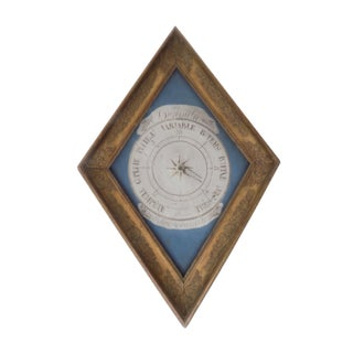 Antique French Painted Barometer For Sale