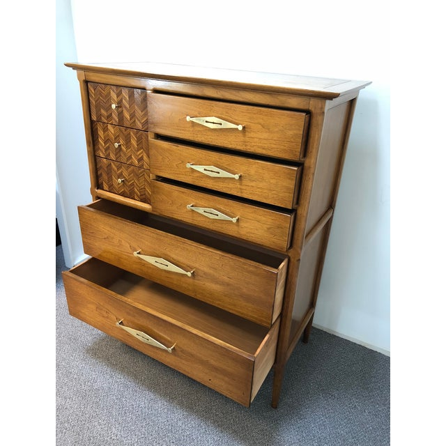 "Here is another gem from an estate on the Connecticut shore. This 9-drawer tall chest is from the Tomlinson ""Sophisticate""..."