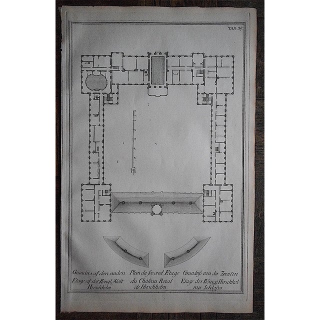 Antique Engraving Palace Floorplan Lg. Folio - Image 2 of 3