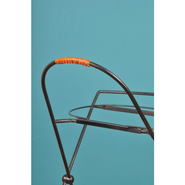 Metal Collapsible Bar Cart, Sweden 1950s For Sale - Image 7 of 11