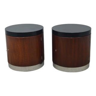 Pair Ralph Lauren Modern Nightstands End Tables For Sale