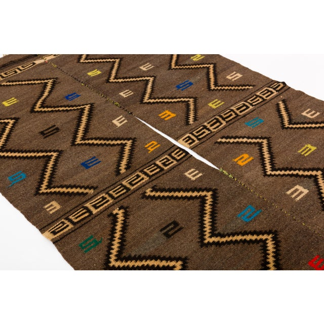 Mid 20th Century Mixtec Cloud and Thunder Symbol Serape Blanket Oaxaca Mexico For Sale - Image 5 of 6
