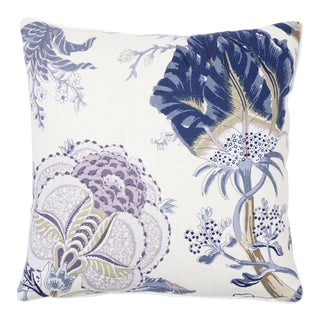 Schumacher Indian Arbre Pillow in Hyacinth For Sale