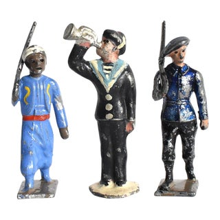 Antique French Wwi Toy Soldiers - Set of 3 For Sale