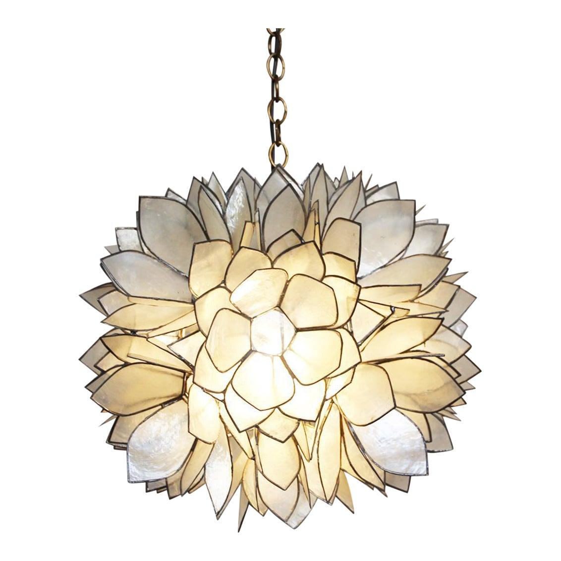 Lotus Flower Capiz Lantern Chairish