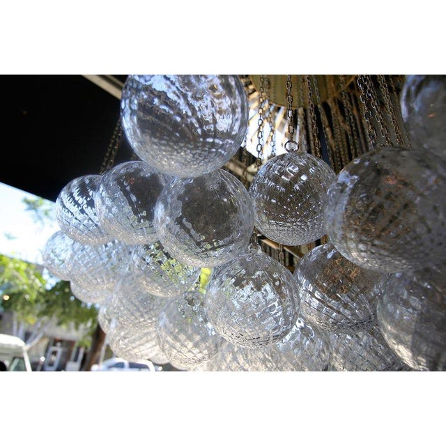 1970s Italian Bubble Glass Chandelier For Sale In Los Angeles - Image 6 of 7