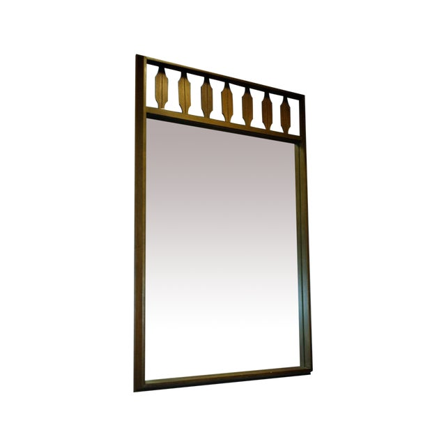 Decorative Mid-Century Walnut Frame Mirror - Image 1 of 6