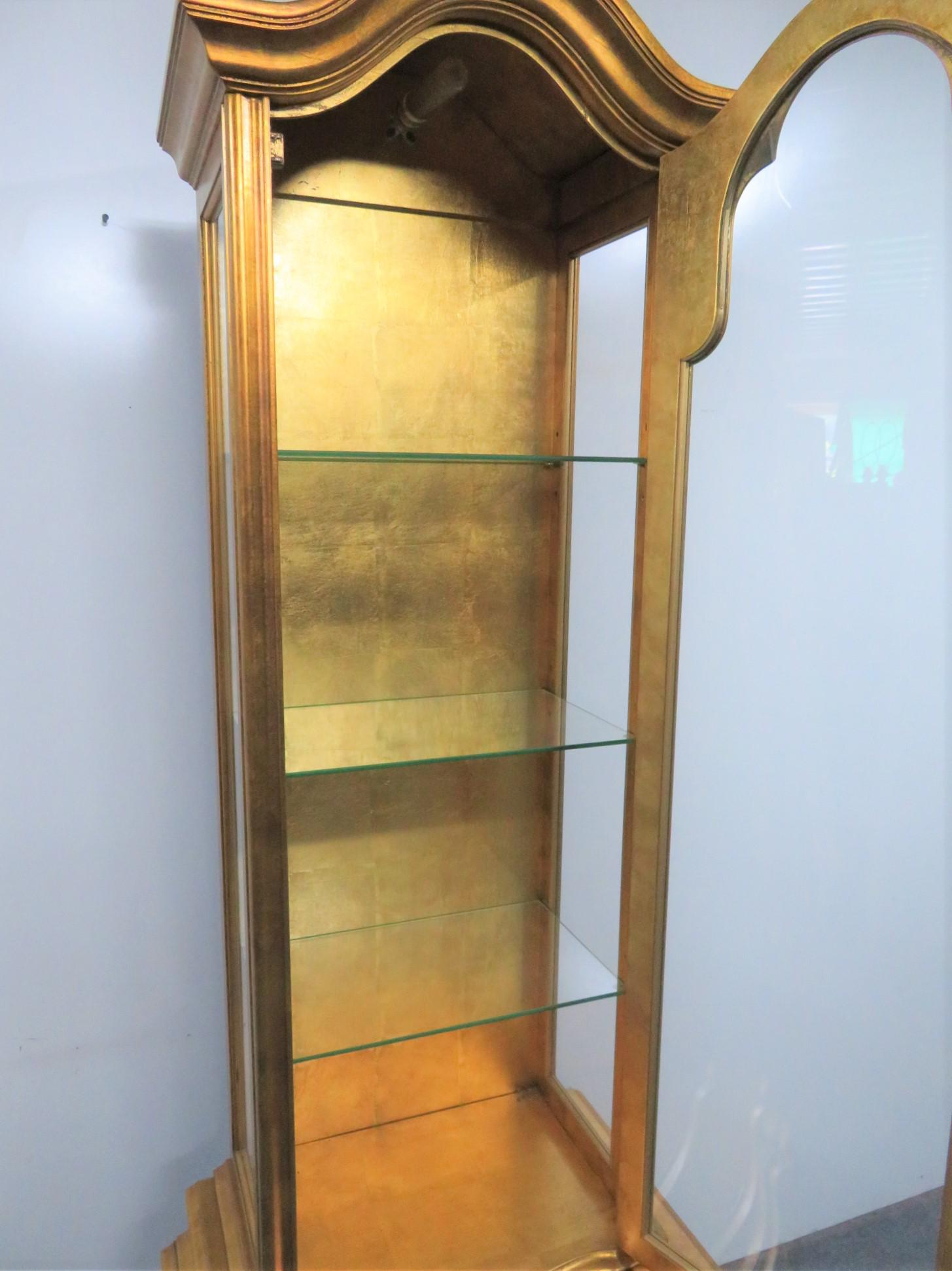 Louis XV Bombay Gold Leaf Curio Cabinet For Sale In Philadelphia   Image 6  Of 10