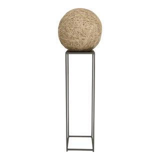 Primitive Twine Ball Sculpture on Steel Pedestal
