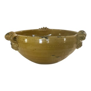 Tuscan Mustard Yellow Decorative Bowl For Sale