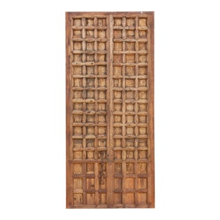 19th Century Spanish Castelan Multi-Paneled Door For Sale