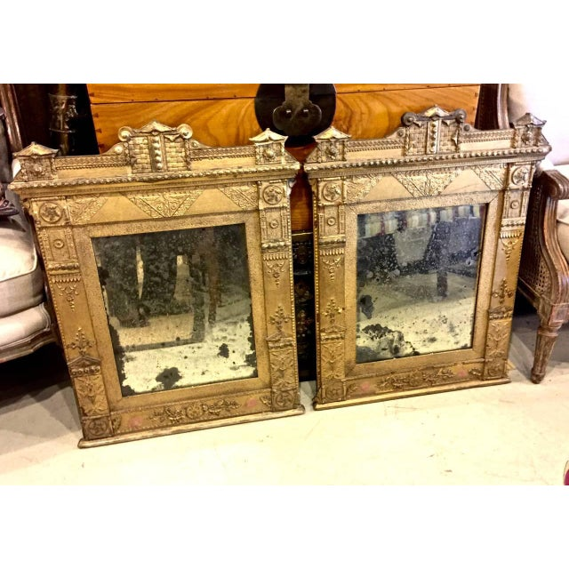 Metal Pair of Late 18th Century French Directoire Gilt Mirrors For Sale - Image 7 of 8