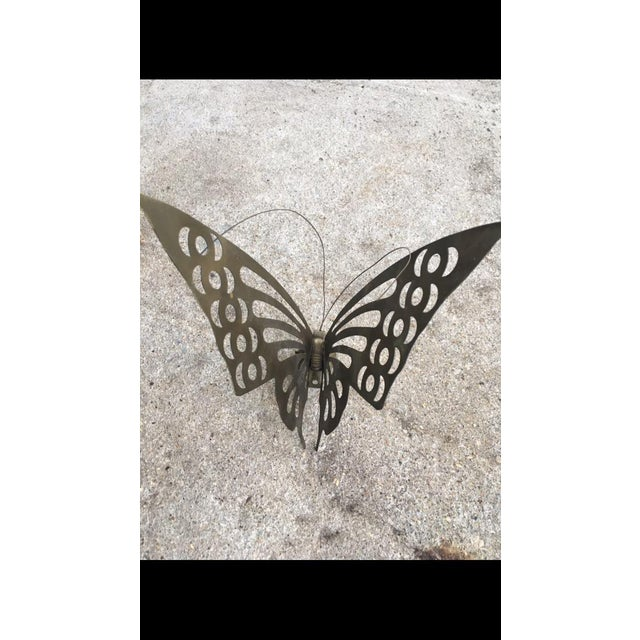 Vintage Brass Butterfly Wall Decor - Image 3 of 6