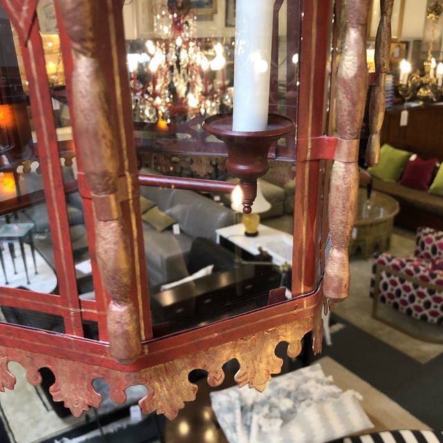 Vintage Chinoiserie Lantern Pendant For Sale - Image 9 of 13