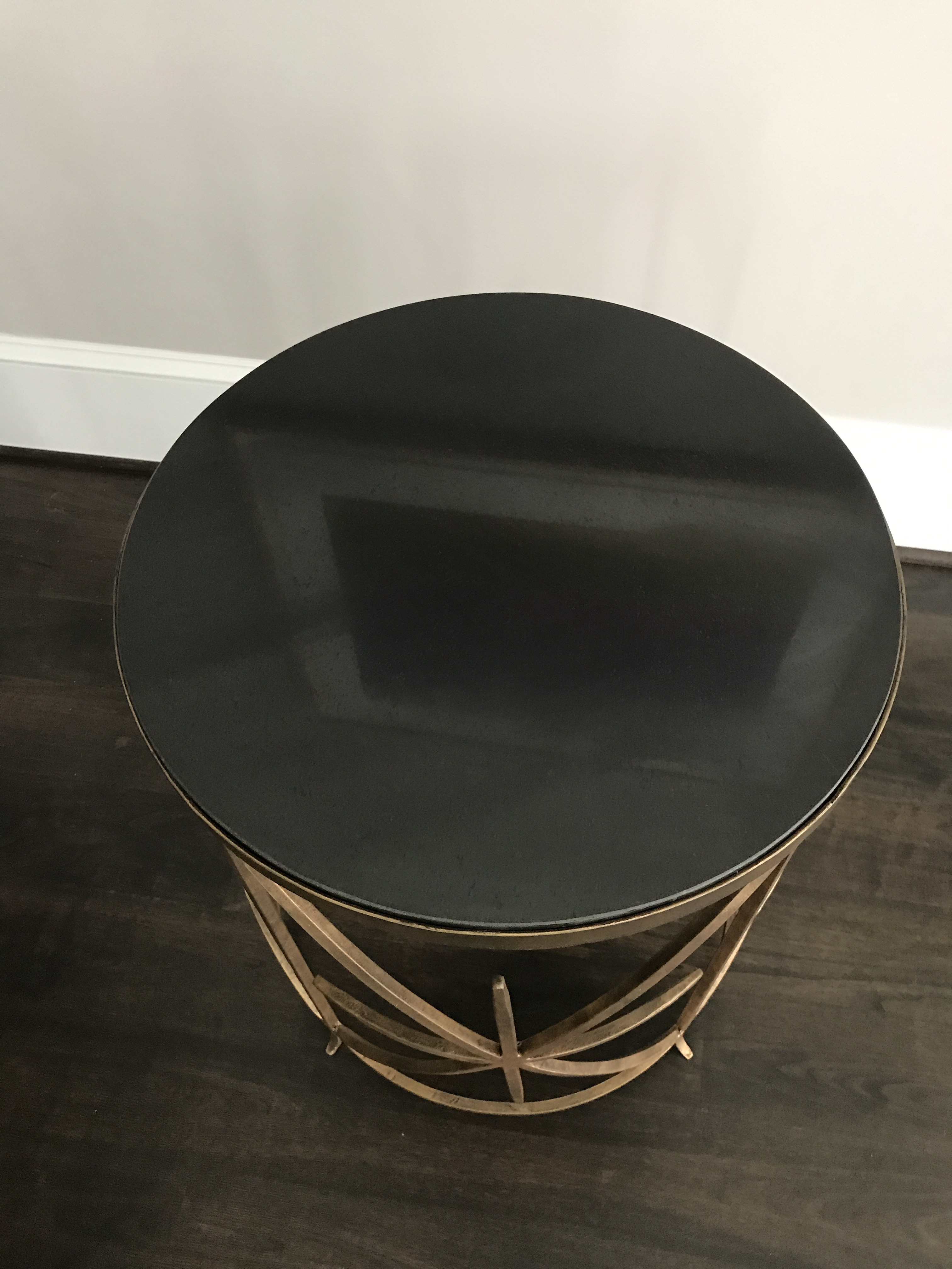Horchow Contemporary Granite Top Round Side Table   Image 4 Of 4