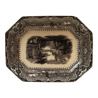 Traditional Ironstone Decorative Plate For Sale