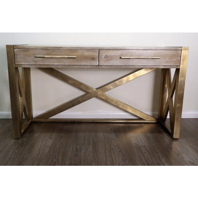 Wood Hooker Furniture Large Two Drawer Console Table For Sale - Image 7 of 7