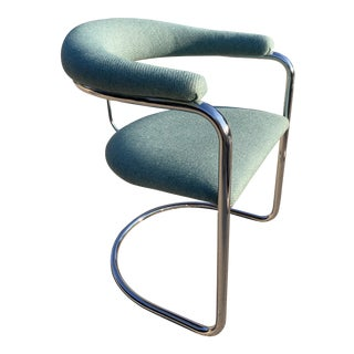 Mid-Century Modern Cantilevered Steel Tube Ss33 Chair Anton Lorenz for Thonet For Sale