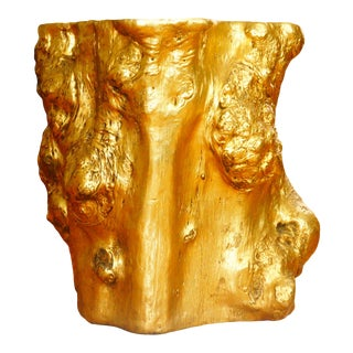 Phillips Collection Gold Log End Table For Sale