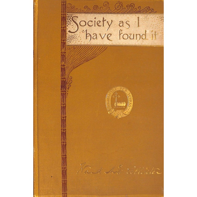 "Traditional ""Society as I Have Found It"" 1890 Ex-Edith Wharton For Sale - Image 3 of 10"