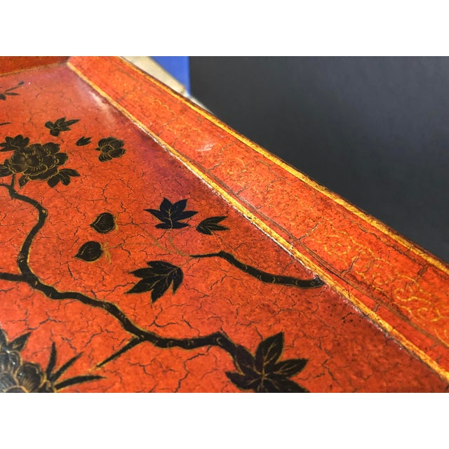 Lacquered and Painted Tray Top Side Tables - a Pair For Sale - Image 9 of 11