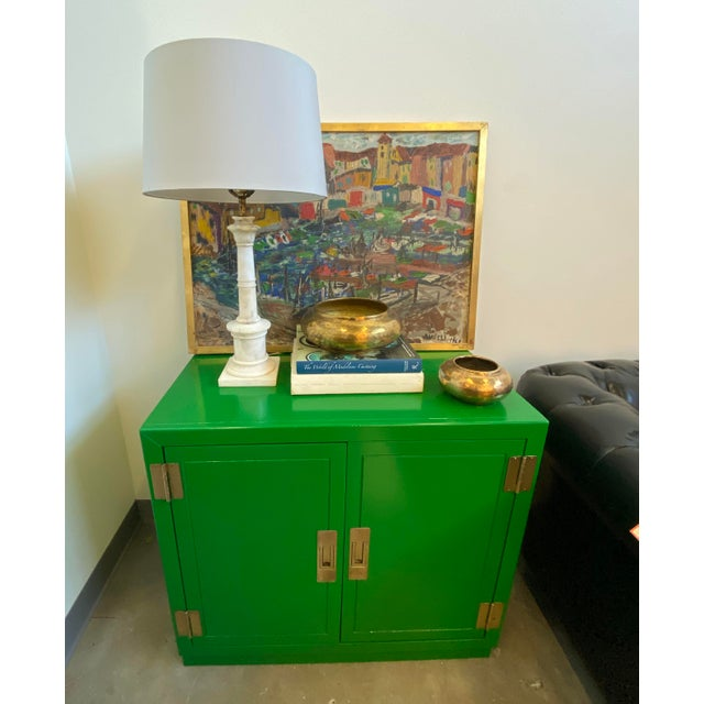 Fabulous two-door design opens to reveal three drawers with exceptional storage space. A great pop of colour with the...