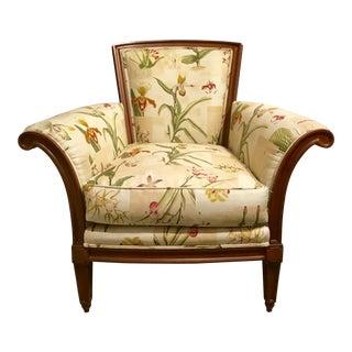 Baker Chair with Custom Botanical Fabric