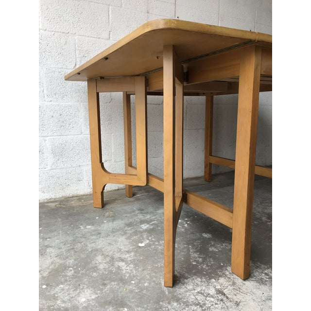 Vintage Mid Century Modern Expanding Dining Table by Edward Wormley for Drexel Furniture For Sale - Image 11 of 13