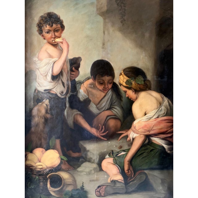 A large scale and wonderful painting from the late 19th century- after Spanish Baroque painter, Bartolomé Esteban Murillo...