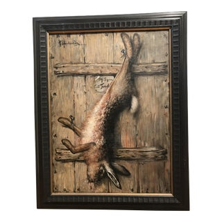 19 Century Wild Game Signed Trompe-L'oeil Painting
