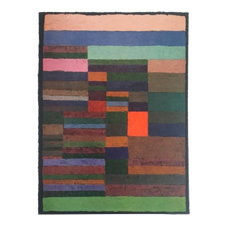 """Paul Klee Vintage 1955 Authentic Abstract Lithograph Print """" Individualized Measurement of Strata """" 1930 For Sale"""