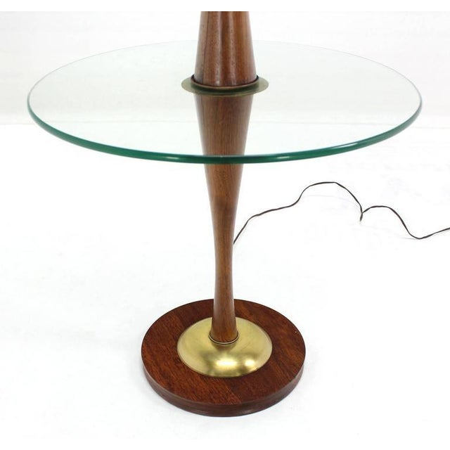Mid 20th Century Vintage Mid-Century Sculptural Floor Lamp & Attached Table For Sale - Image 5 of 11