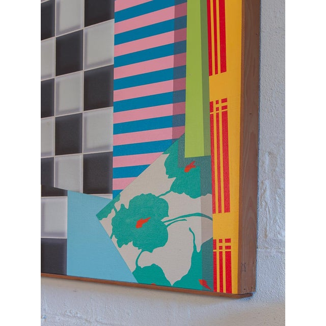 1980s Trio of Large-Scale 1980s Abstract Paintings - 3 Pieces For Sale - Image 5 of 10