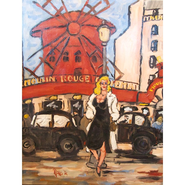 Le Moulin Rouge by Jean-Claude Maas - Image 6 of 6