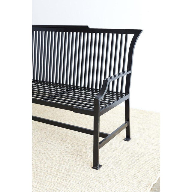 Contemporary Contemporary Aluminum Park Bench or Settle For Sale - Image 3 of 13