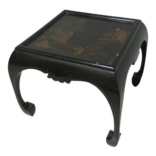 Elegant Chinoiserie Foot Stool/Low Table For Sale