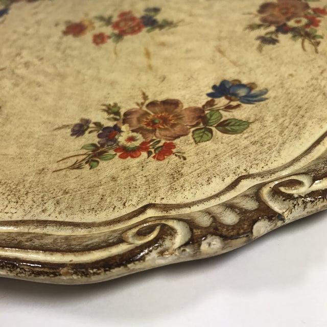 Vintage Italian Venetian Floral Tray - Image 8 of 9