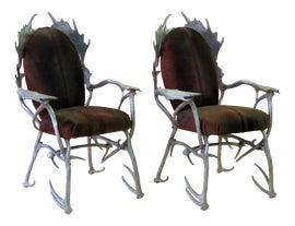 Image of Cowhide Side Chairs