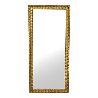 Lovely Modern Gold Rectangular Mirror For Sale