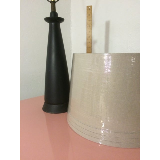 1950s Matte Black Cone Lamp - Image 5 of 10