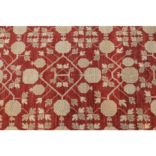"""Hand Knotted Multi Color Rug - 5' x 8'3"""" For Sale - Image 4 of 4"""