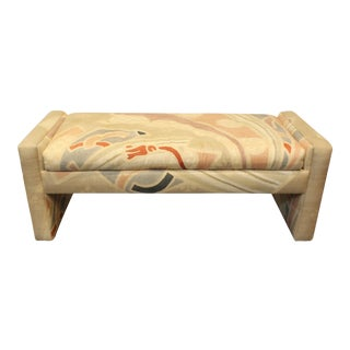 1980's Pop Art Memphis Style Upholstered Bench For Sale
