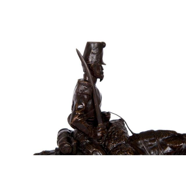 Antique French Bronze Sculpture of a Soldier on Horseback by Emmanuel Fremiet For Sale - Image 9 of 13