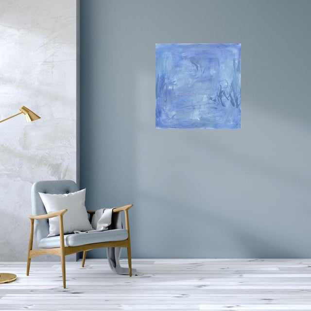 """""""Blue Zen"""" by Trixie Pitts Abstract Oil Painting For Sale - Image 9 of 13"""
