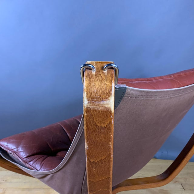 """Brown Sigurd Ressell Low Back """"Falcon"""" Chair, 1970s, Norway For Sale - Image 8 of 11"""