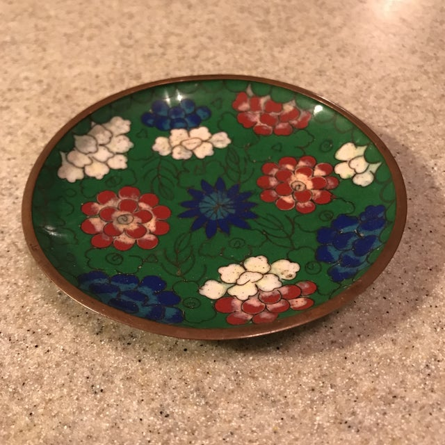 Chinese Enamel Cloisonné Tray For Sale - Image 10 of 10